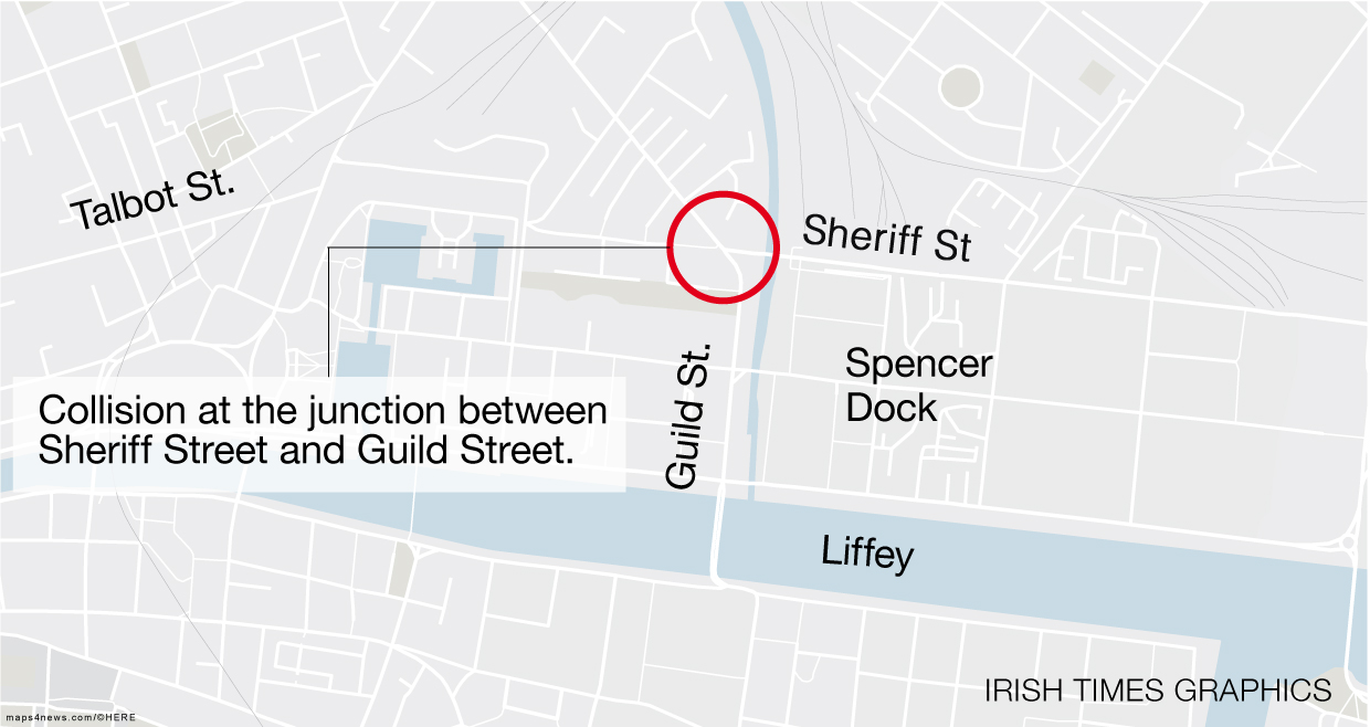 Cyclist killed in collision with truck in Dublin