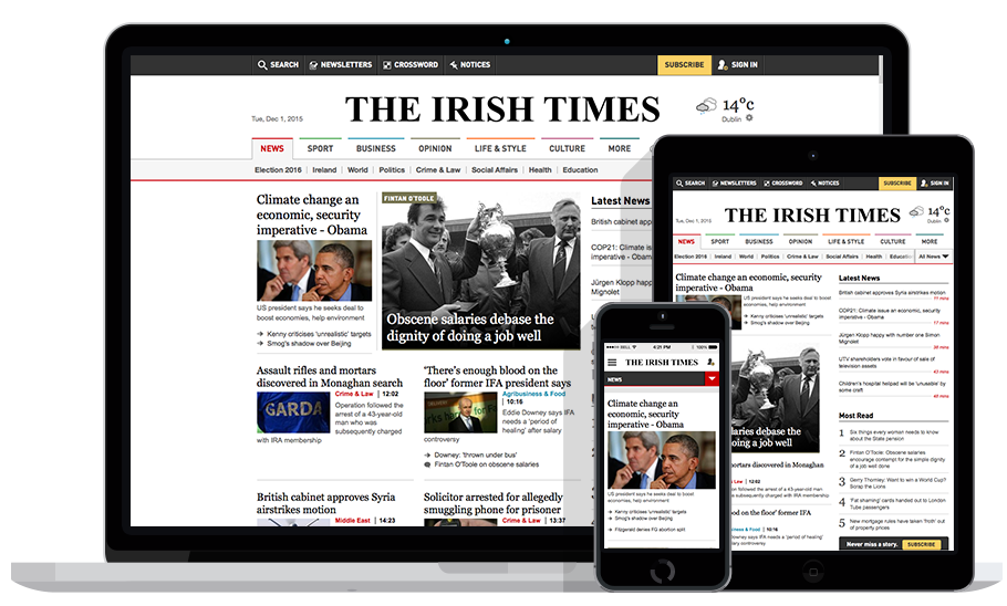 The Irish Times print and digital collection