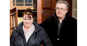 Stephen and Margaret Murtagh at court yesterday. photograph: . Collins