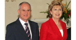Martin McAleese and his wife, former President Mary McAleese, who is currently living in Rome where she is studying canon law. .
