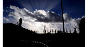 The sun breaks through a cloud in Birmingham. Photograph: Rui Vieira/PA