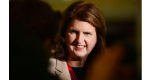 Minister for Social Protection Joan Burton  says financial markets and wealthy elites also cannot be allowed to 'dictate our future'. Photograph: Alan Betson/The Irish Times