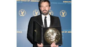 Actor-turned-filmmaker Ben Affleck won the top honour from his peers at the Directors Guild of America last night for the movie Argo. Photograph: Getty Images.