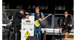 Bruce Springsteen and The E Street Band at the RDS in July 2012. Photograph: Dara mac Dónaill
