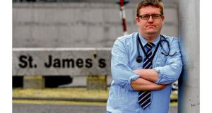 """There's always the pressure to move on to the next patient,"" says Anthony O'Connor, a medical registrar at St James's Hospital in Dublin. Photograph: Alan Betson"
