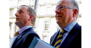 Enda Kenny and Charlie Flanagan, who can now pick anything from BLTs to panini