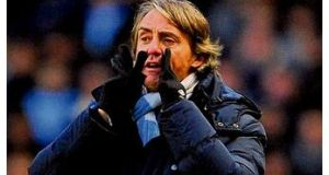 Roberto Mancini: expects title to be decided in February and March.
