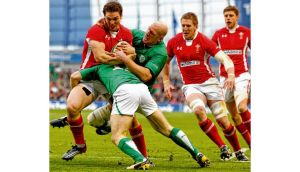George North, seen here being tackled by Paul O'Connell, caused havoc in the Ireland defence during last year's Six Nations encounter between the two countries in Dublin