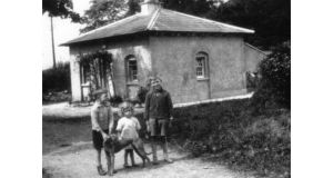 Patricia Craig's father, Andy, with his younger brother and sister outside their Dunmurry home, around 1928 (photographs © patricia craig, 2012)