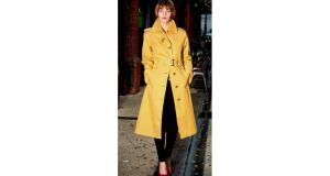 Mustard trench by Mackintosh Rainwear €389 from 46 Sth William Street, Dublin