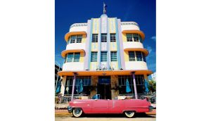Falling into a fruit sundae:an Art Deco building near the beach. PHOTOGRAPHS: GETTY IMAGES