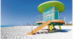 Falling into a fruit sundae: a lifeguard tower on the beach. PHOTOGRAPHS: GETTY IMAGES