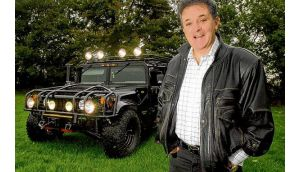 Kevin McGeever photographed in 2003 with his Hummer. Photograph: Bryan O'Brien/The Irish Times