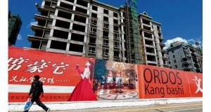 Empty apartment buildings in the city of Ordos, Inner Mongolia