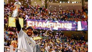 Ravens linebacker Ray Lewis marked his retirement from the game with his second Super Bowl title in New Orleans on Sunday night. Photograph: Jeff Haynes/Reuters