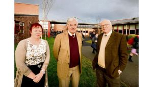 Marie Nolan, student counsellor, Eamon Gaffney, principal, and Jimmy O'Connell, student counsellor at St Peter's school in Dunboyne, Co Meath. Photograph: Alan Betson