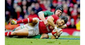 Seán O'Brien tackles Mike Phillips last Saturday. Photograph: Inpho/Getty Images