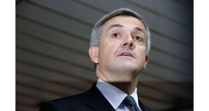 Former cabinet minister Chris Huhne makes a statement to the press outside Southwark Crown Court today. Photograph: Matthew Lloyd/Getty Images