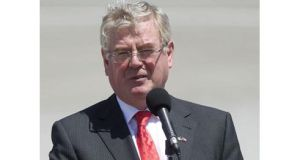 Tanaiste Eamon Gilmore speaking to the media at last week's summit in Santiago, Chile. Photograph: Claudio Reyes/Reuters