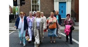 Women with the group Magdalene Survivors Together on their way into Leinster House. Photograph: Eric Luke / The Irish Times