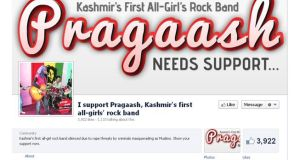 A screengrab of the Facebook page that has been set up in support of Pragaash