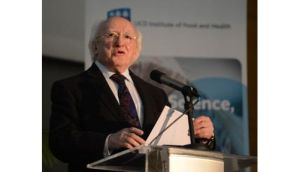 President Michael D. Higgins unexpectedly returned home to Dublin tonight from Rome where he had just completed day one of a three day visit to mark the Irish Presidency of the EU.