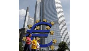 The European Central Bank held its main interest rate at a record low of 0.75 per cent today.