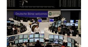 European stocks climbed, rebounding from yesterday's slide, while investors awaited a policy announcement by the European Central Bank.