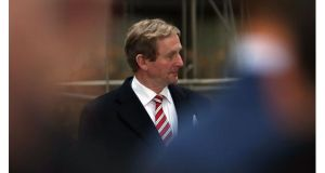 Taoiseach Enda Kenny arrives at the EU headquarters in Brussels for today?s budget talks.  Photograph:  Dan Kitwood/Getty Images