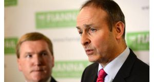 Satisfaction with Fianna Fail leader Micheal Martin is now at 29 per cent, the same rating as Taoiseach Enda Kenny, according to the latest Irish Times/Ipsos MRBI poll. Photograph: Dara Mac Donaill/The Irish Times
