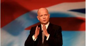 British foreign secretary William Hague who has accused Argentina of 'bullying and intimidatory' behaviour over the Falklands. Photograph: David Jones/PA wire