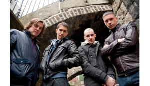 The cast of RTE's Love/Hate which won five awards at last night's Irish Film and Television Academy awards.
