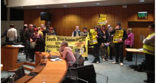Council meetings disrupted by protests in Dublin and Galway