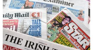 Data compiled for the Joint National Readership Survey found 84 per cent of adults in Ireland regularly access newspaper content, either in print or online.  Photograph: Alan Betson/The Irish Times