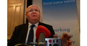 Fr Sean Healy challenged the government in failing to tackle the 'working poor'. Photograph: Cyril Byrne/The Irish Times