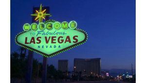 Mocked-up shot of the 'Welcome' sign in Las Vegas which will 'go green' for the first time on March 17th. Photograph: Tourism Ireland