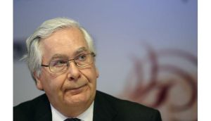 Bank of England governor Mervyn King said economy was set for a slow but sustained recovery over the next three years, and economic output was unlikely to surpass its pre-financial crisis peak until 2015. Photograph: Chris Ratclif/Bloomberg