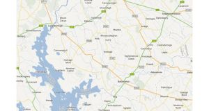 The crash happened at about 1.30pm on the R392 at Ballymahon, about 1.5km from Lanesborough. Image: Google Maps
