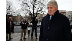 Denis O'Brien has claimed the Daily Mail article published shortly after an earthquake in Haiti, accused him of being a hypocrite and motivated by self-interest over his efforts to assist the relief of Haiti. Photograph: Collins Courts