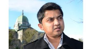 Minister for Public Expenditure Brendan Howlin described the leak as disturbing and said Praveen Halappanavar, above, would be the first to receive the final report into his wife's death, when completed.