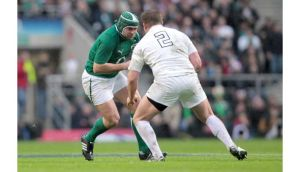 Rory Best takes on Dylan Hartley during the Six Nations match in Twickenham last year. Photograph: James Crombie/Inpho