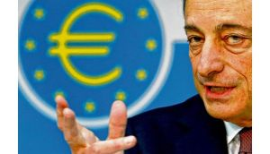 ECB president Mario Draghi speaks during a news conference yesterday.