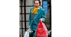 Derek O'Shaughnessy, former curate's attendant at St Ann's, Dawson Street, Dublin, leaving court yesterday.