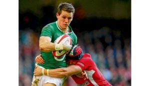 Ireland's Craig Gilroy is nabbed by Leigh Halfpenny in last Saturday's 30-22 victory over Wales at the Millennium Stadium. Photograph: Dan Sheridan/Inpho