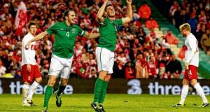 John O'Shea and Wednesday's goalscorer Ciaran Clark are part of Giovanni Trapattoni's defensive plans. Photograph: Cathal McNaughton/Reuters