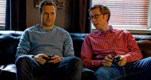 Game boys: Rafe Spall, left, and Stephen Merchant in I Give it a Year.