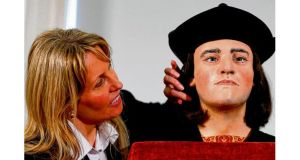 "Philippa Langley, originator of the ""Looking for Richard"" project, beside a facial reconstruction of Richard III this week after the monarch's bones were found beneath a Leicester car park. photograph: andrew winning/reuters"