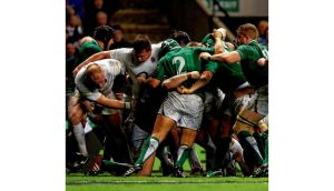 Ireland won't want a repeat of the mauling they took from England's pack last year; here Dan Cole (left) and Dylan Hartley force the Irish scrum to concede a penalty try.