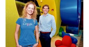 New Dubliners: Katrin Nagel, from Germany, and Thijs van der Haak, from the Netherlands, at Google. photographs: alan betson and eric luke