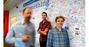 Future proof: Facebook employees Ziad Traboulsi, from Lebanon, and Mats Lyngstad, from Norway, at the Dublin office. photograph: alan betson